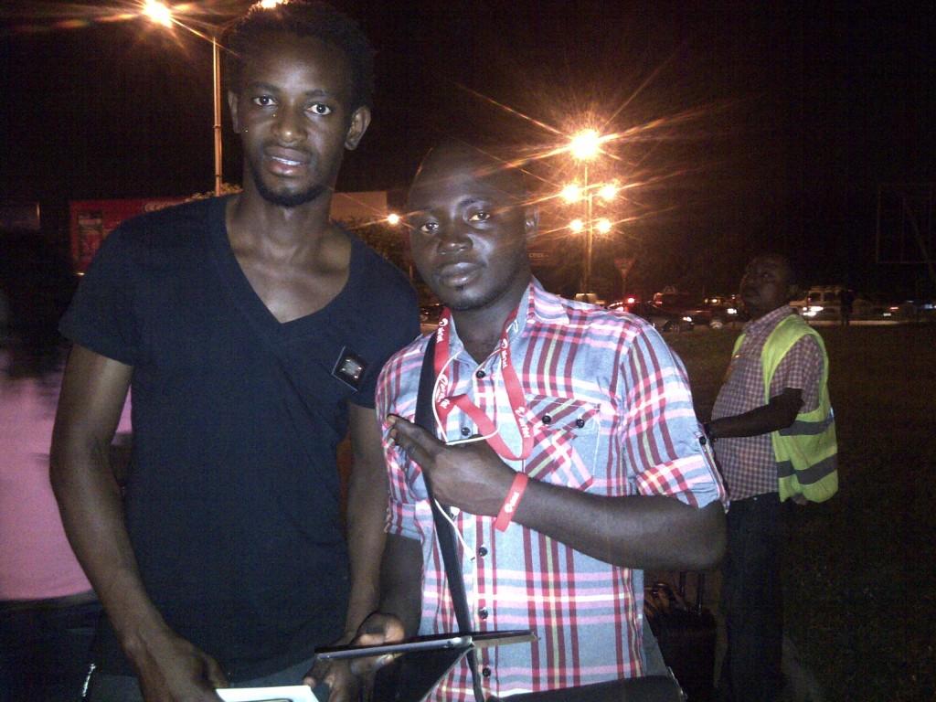 Bennard Kumordzi, left with Akyereko Frimpong, confident of Ghana victory