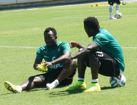 Ghana midfielder Michael Essien struggling with a toe injury