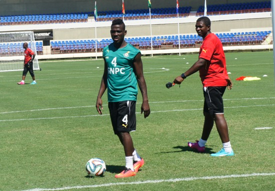 Daniel Opare hobbled off the training pitch after the session on Thursday