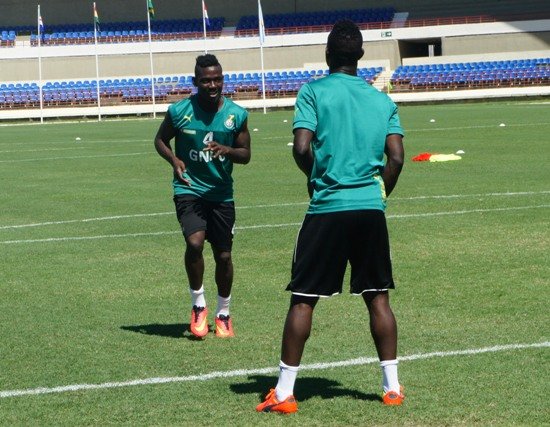 Daniel Opare limped off training on Thursday