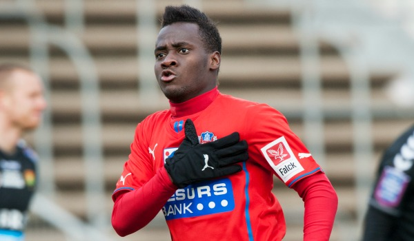 David Accam extended his hot form in Sweden by scoring on his Helsingborg return