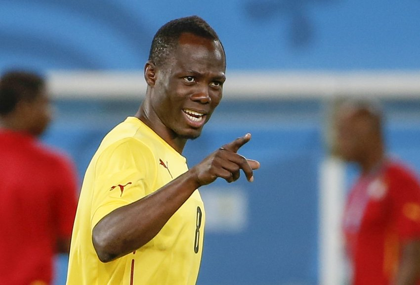 Emmanuel Agyemang-Badu played his first World Cup game on Saturday