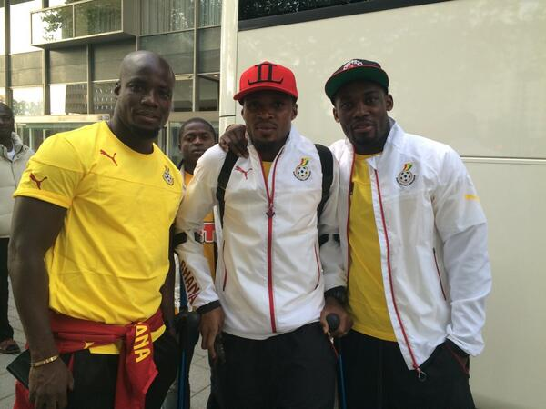 Stephen Appiah (left), Jerry Akaminko (middle) and Michael Essien.
