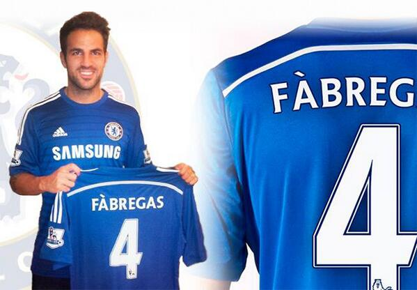 Cesc Fabregas has signed for Chelsea.