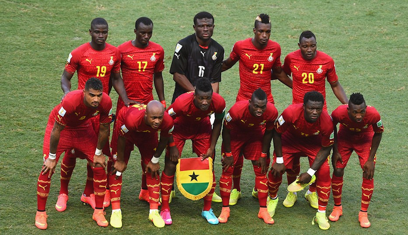 Ghana's squad that faced Germany.
