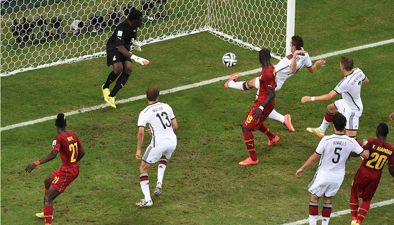 Ghana versus Germany in Fortaleza.