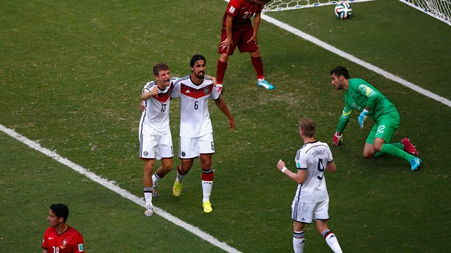 Germany celebrating