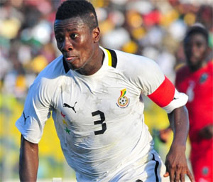 Ghana captain Asamoah Gyan starts against South Korea