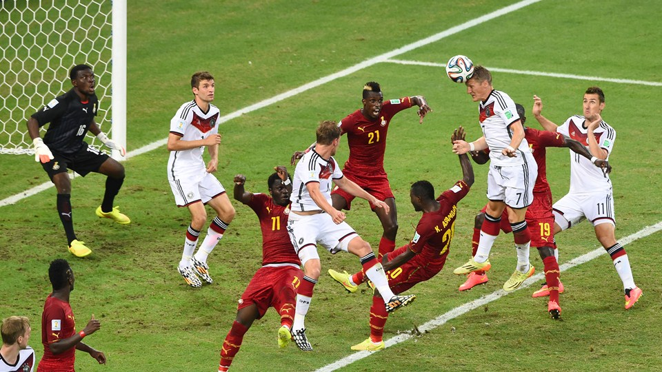 Ghana have lost several aerial challenges at the 2014 World Cup