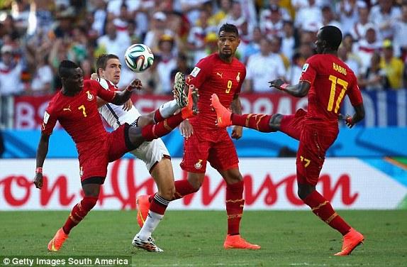 Ghana held Brazil to a 2-2 draw in Fortaleza