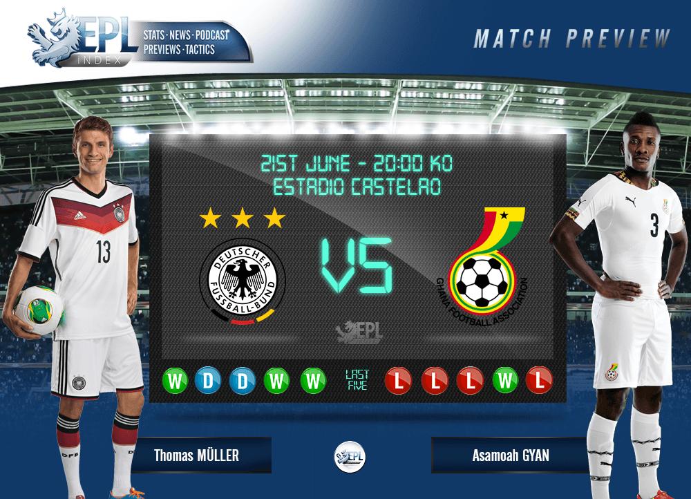 Ghana take on Germany on Saturday