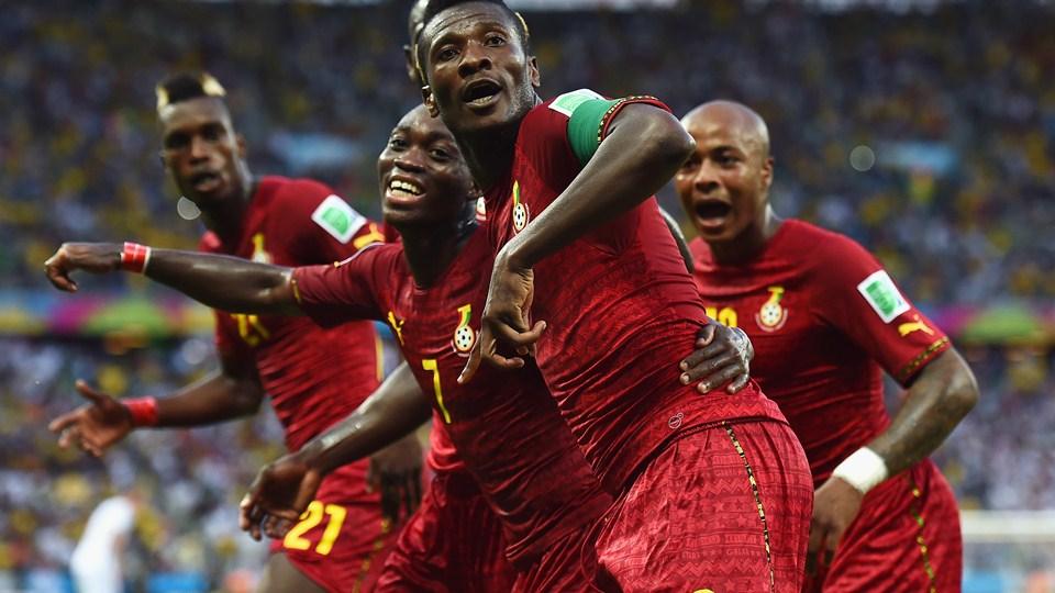 Asamoah Gyan scored Ghana's second goal against Germany