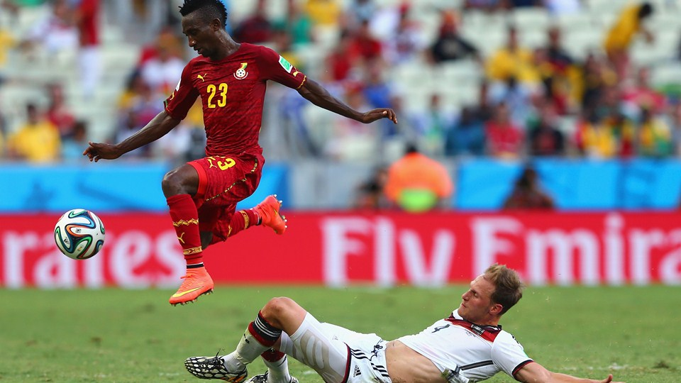 Harrison Afful impressed in the draw with Germany