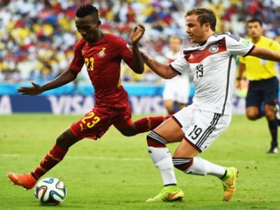 Harrison Afful was impressive against Germany