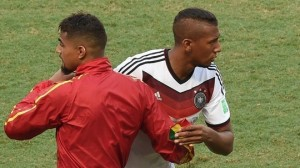 While Ghana star Kevin-Prince Boateng's tournament ended in a bust-up, Jerome is yet to concede a goal with Germany.