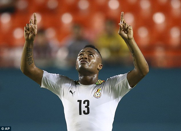 Jordan Ayew netted a hat-trick