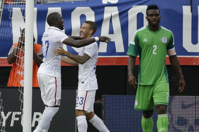 Jozy Altidore celebrating his first goal