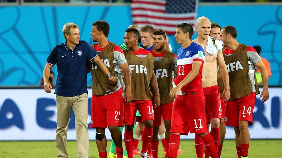 Jurgen Klinsmann and his USA team