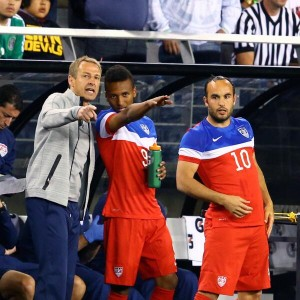 United States coach Jurgen Klinsmann was at the Miami Sun Life Stadium on Monday night to watch their World Cup group opponents Ghana during the friendly against South Korea.