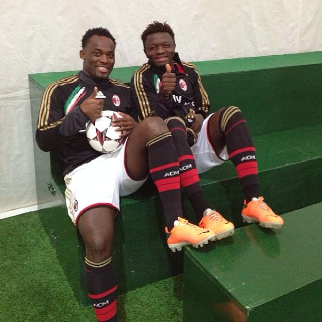 Michael Essien and Sulley Muntari were drawn from the Serie-A