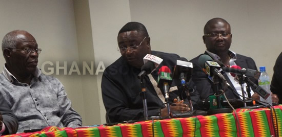 Sports Minister Elvis Afriyie Ankrah addressing the press conference