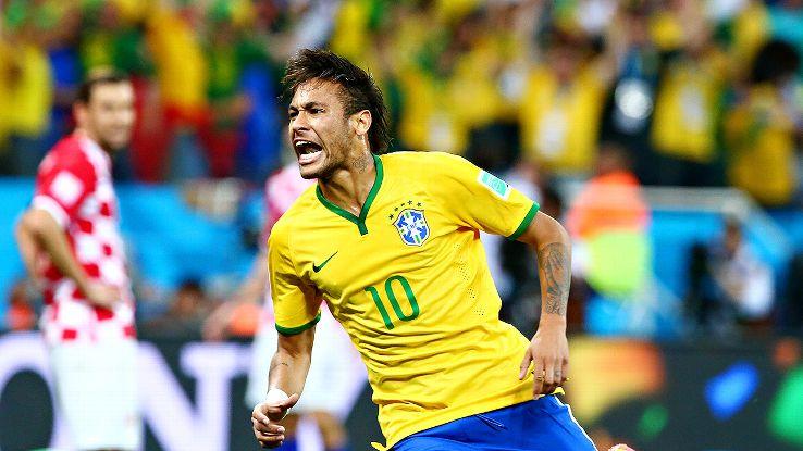 Neymar Jnr scored two goals.