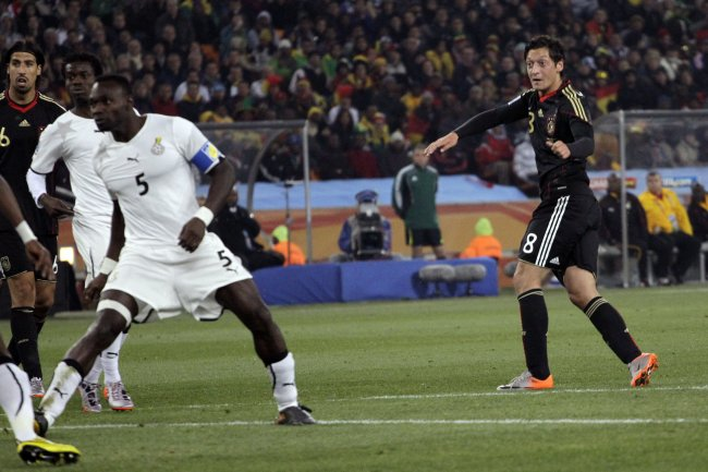 Mesut Ozil scoring teh winner at the 2010 World Cup finals.