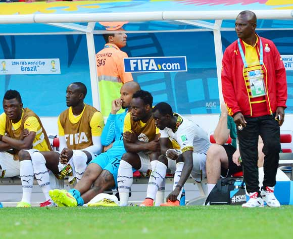 Ghana's bench at the 2014 FIFA World Cup.