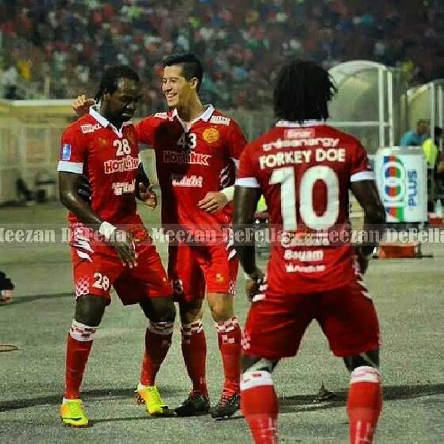 Prince Tagoe assisted Forkey Doe in Kelantan's win in Malaysian league