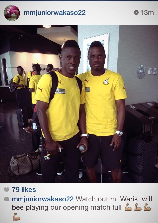 Wakaso Mubarak has cleared Waris to face USA