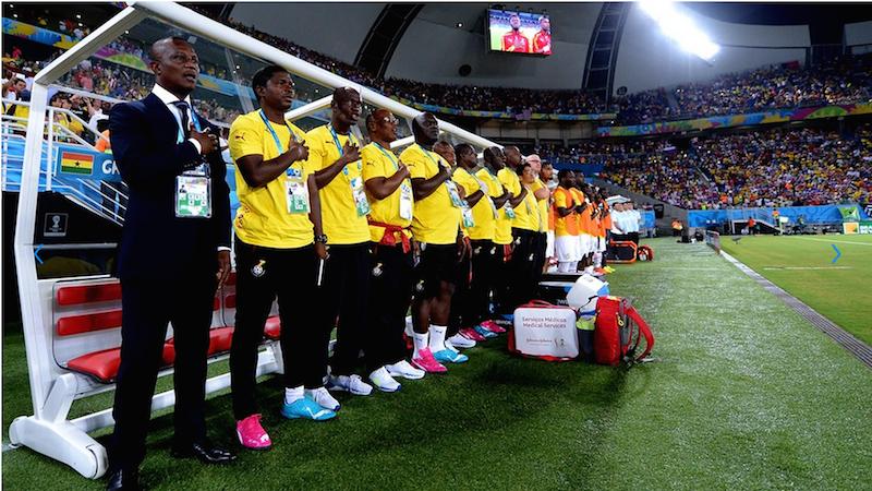 Ghana's World Cup bench