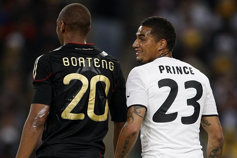 Kevin Prince Boateng and half-brother Jerome.