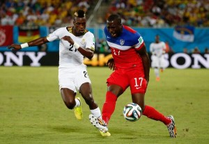 Ghana defender John Boye has pulled off a contender for 'own goal of the World Cup' after slicing into his own net in his side's final Group G game with Portugal.