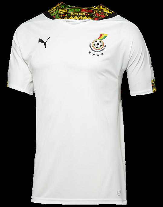 Ghana's first choice jersey