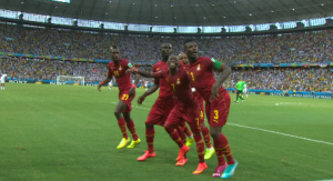 Ghana's goal celebration dance is intoxicating