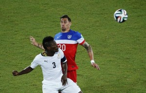 Ghana striker Asamoah Gyan got some praise from the media for his beautiful back pass that resulted in the Black Stars equaliser in the 2-1 defeat to the United States at the World Cup.