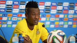 Ghana captain Asamoah Gyan has revealed that his favourite No.3 is a 'powerful number' as he looks to outdoors it for the 2014 World Cup in Brazil tonight.
