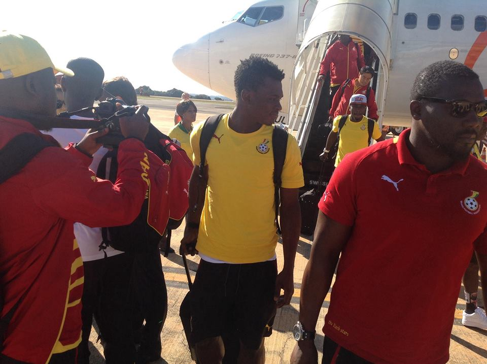 PICTURES: Watch Black Stars arrive in Brasilia for Portugal clash on Thursday
