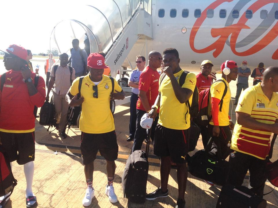 Black Stars landing in Brasilia for Thursday's match against Portugal.