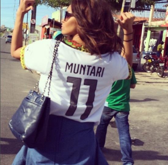 Menaye Donkor in her Sulley Muntari jersey