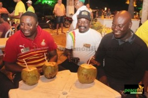 Elvis Afriyie Ankrah (left) chill in Brazil