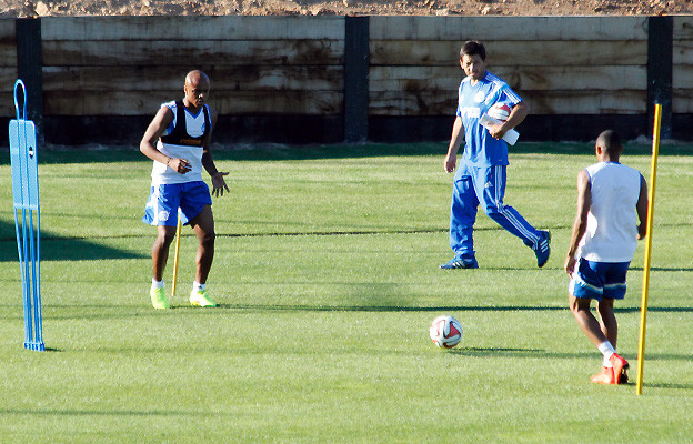 Andre Ayew training at the Robert Louis-Dreyfus training centre.