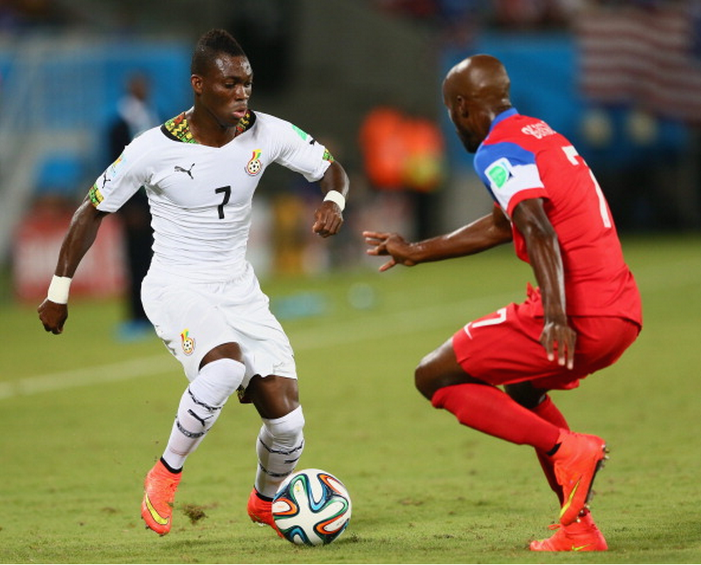 Christian Atsu in action for Ghana at the World Cup.