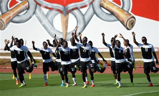 Black Stars players training