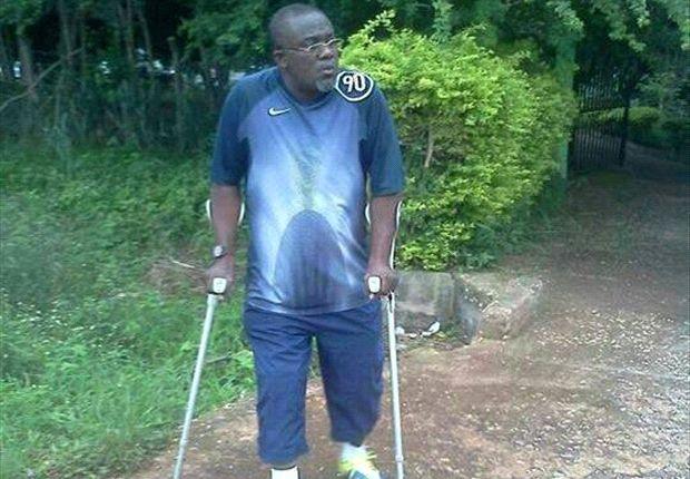 Francis Bruce Thompson undergoing rehabilitation.