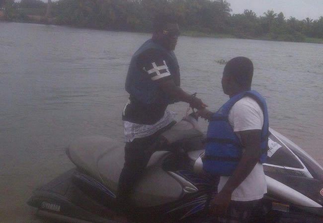 Castro on the jetski in Ada
