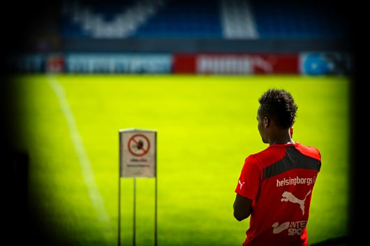 David Accam looks set to miss the HIF's match against Orebro on Sunday.
