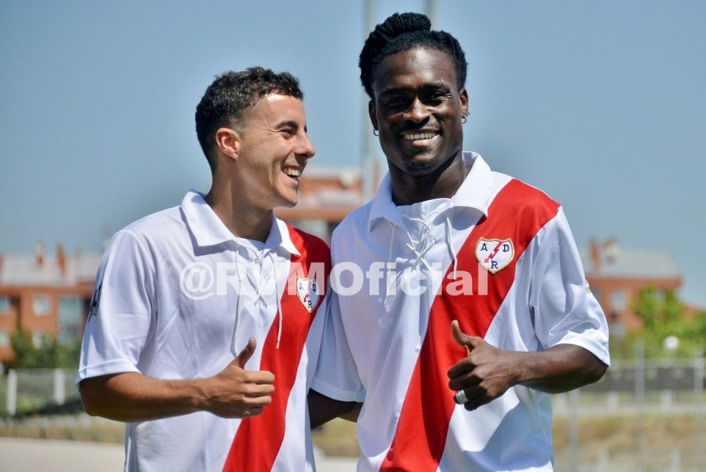 Derek Boateng played his first game for Rayo on Saturday