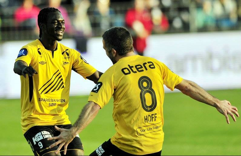 Ernest Asante scored for IK Start in the Norwegian top-flight