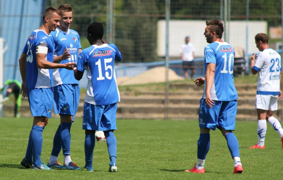 Francis Narh scored twice for Banik Ostrava